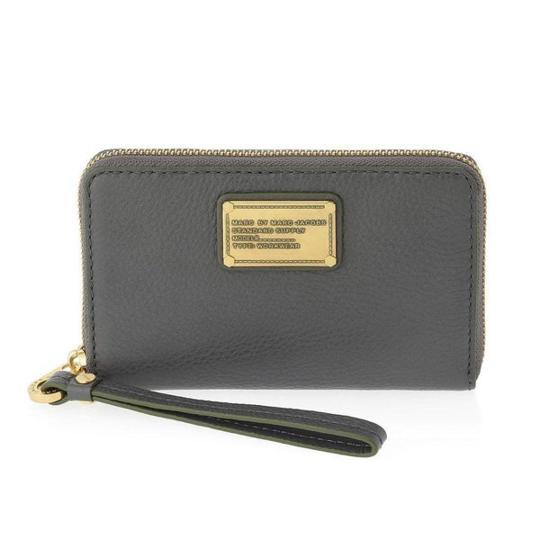 Marc By Marc Jacobs Classic Q Wingman Faded Aluminum Grey iPhone 5 Wristlet