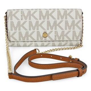 Michael Kors MK Signature Vanilla Wallet On a Chain