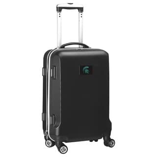 Denco Sports NCAA Michigan State Spartans 20-inch Hardside Carry-on Spinner Upright Suitcase