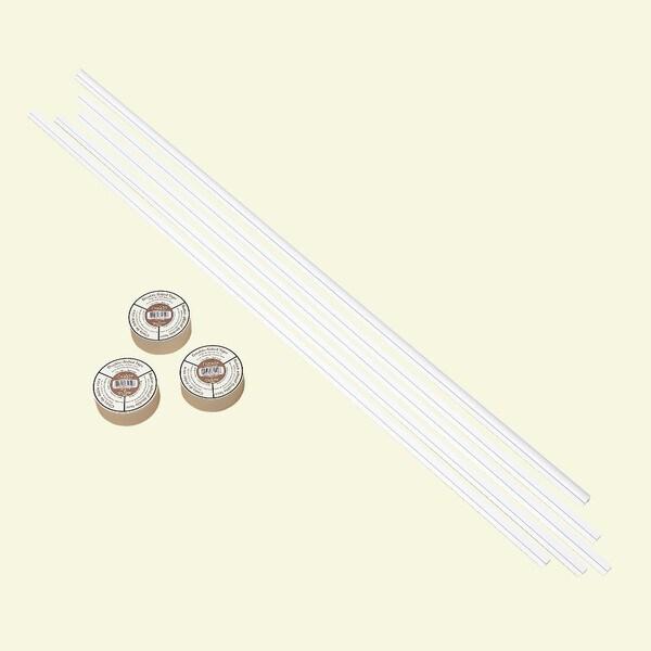 Fasade Backsplash Accessory Kit Large Profile with Tape Gloss White