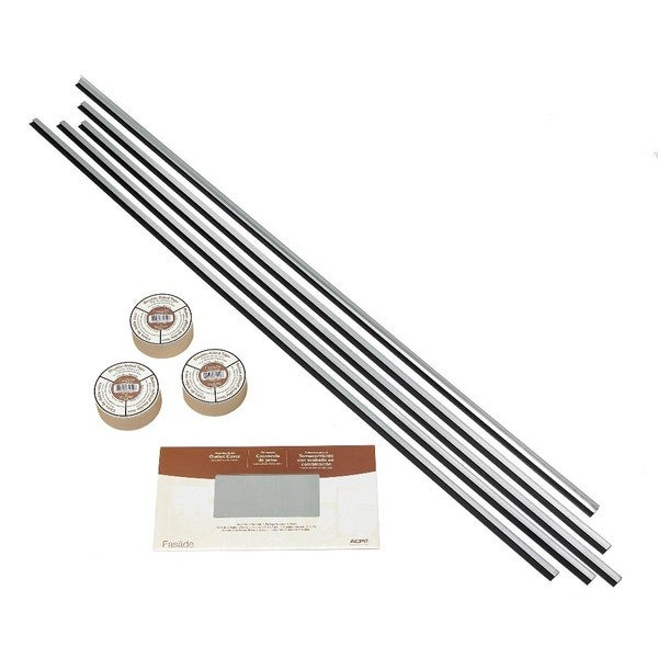 Fasade Backsplash Accessory Kit Large Profile with Tape Brushed Aluminum 16116102
