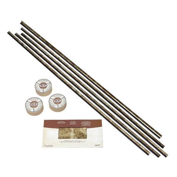 Fasade Backsplash Accessory Kit Large Profile with Tape Bermuda Bronze 16116105