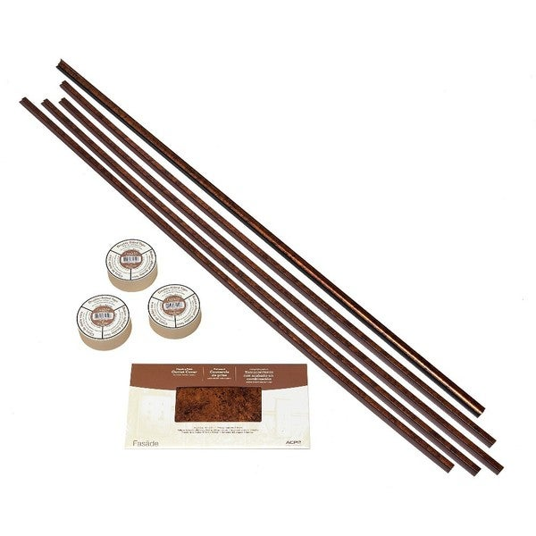Fasade Backsplash Accessory Kit Large Profile with Tape Moonstone Copper