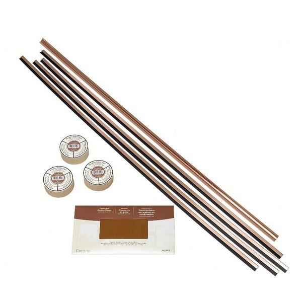 Fasade Backsplash Accessory Kit Large Profile with Tape Polished Copper