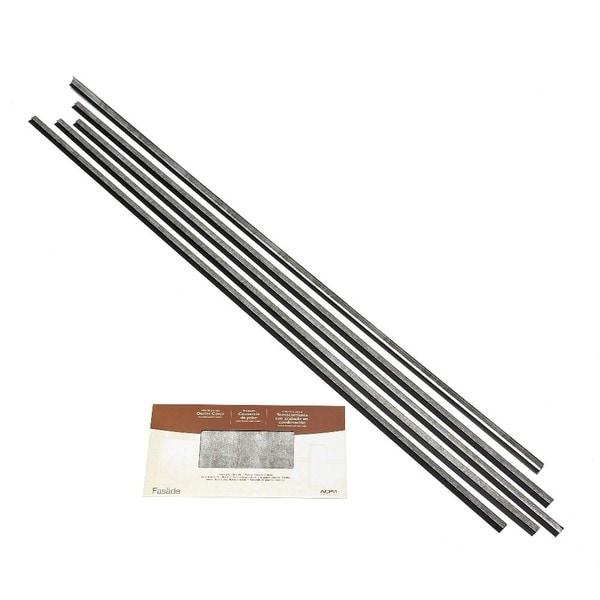 Fasade Backsplash Accessory Kit Large Profile Crosshatch Silver