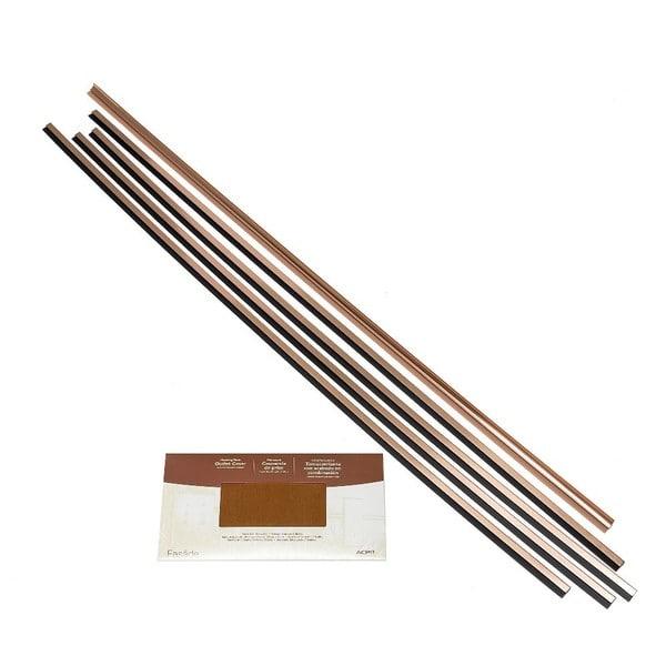 Fasade Backsplash Accessory Kit Large Profile Polished Copper 16116131