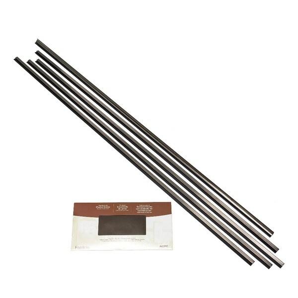 Fasade Backsplash Accessory Kit Large Profile Brushed Nickel 16116135