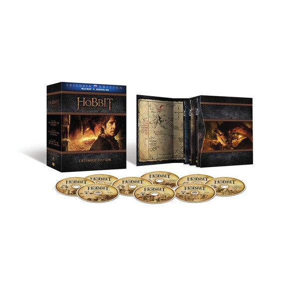 Hobbit: Motion Picture Trilogy Extended Editions (Blu-ray Disc) 16118090