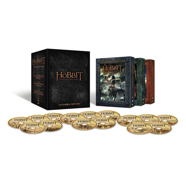 Hobbit: Motion Picture Trilogy Extended Editions (DVD) 16118091