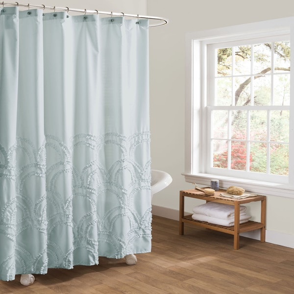 Pink Ruffle Blackout Curtains Coastal Blue Curtain Panels
