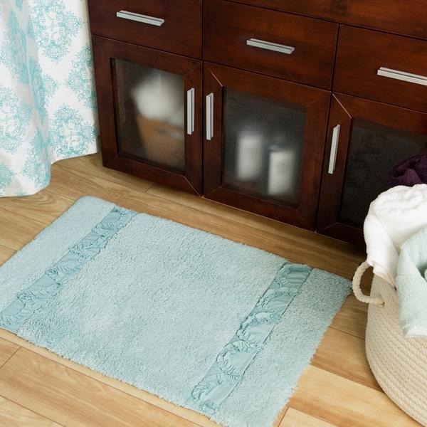 Lush Decor Esme Spa Blue Bath Rug