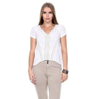 Stanzino Women's High low Short Sleeve Tunic