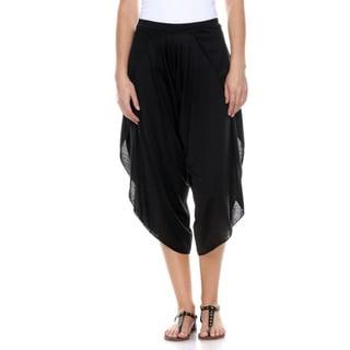 Stanzino Women's Soft Rayon Harem Pants