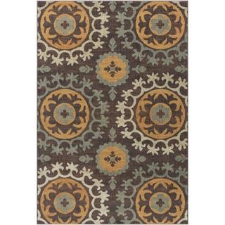 Meticulously Woven Barnes Polka Dots Polypropylene Rug (7'10 x 9'10)