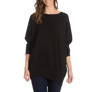 Chelsea and Theodore Women's Long Dolman Sleeve Oversized Top