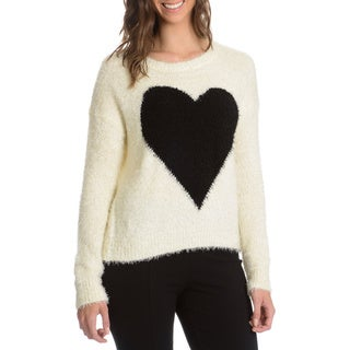 Chelsea and Theodore Women's Soft Knit Eyelash Heart Sweater
