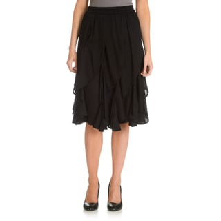 Chelsea and Theodore Women's Cascading Ruffle Skirt