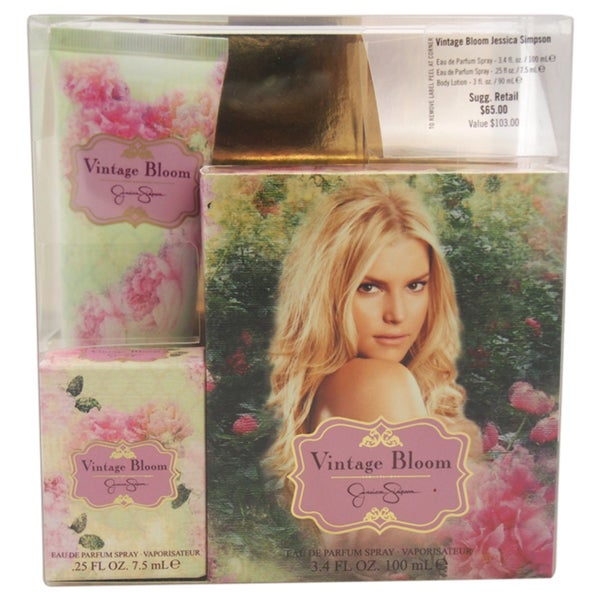Vintage Bloom by Jessica Simpson Women's 3-piece Gift Set
