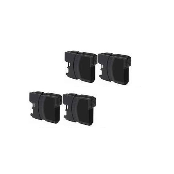 Brother LC61 BK Compatible Inkjet Cartridge For MFCAN-5490CN , MFCAN-5890CN , MFCAN-6490CW , MFCAN-790CW (Pack of 4)