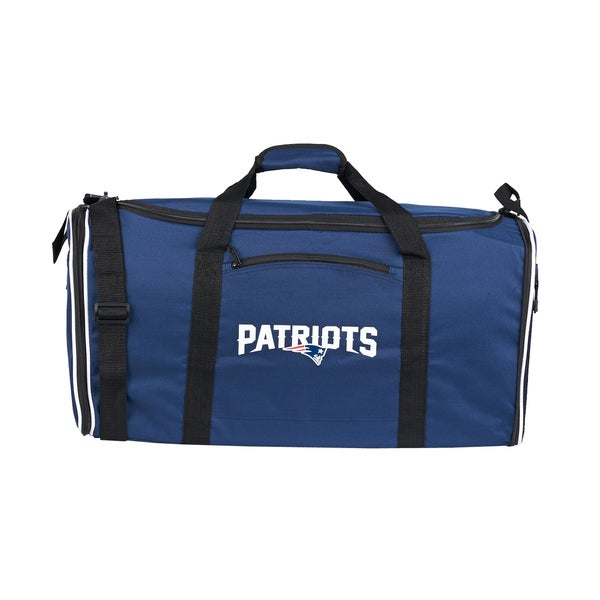 NFL New England Patriots 28-inch Blue Duffel Bag