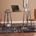 Upton Home Distressed Black Metal and Glass A-Frame Desk