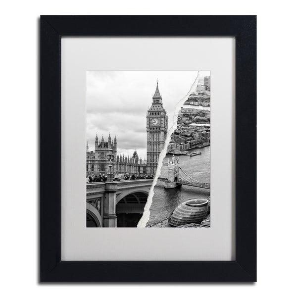 Philippe Hugonnard 'City of London' Black Matte, Black Framed Wall Art