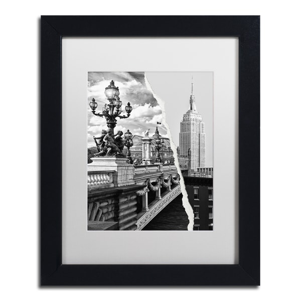 Philippe Hugonnard 'Live in Paris and New York' Black Matte, Black Framed Wall Art