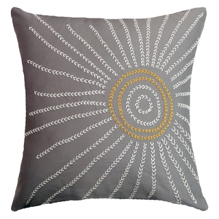 Embroidered Sun Hand-crafted Spun by Welspun 16-inch Throw Pillow
