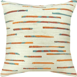 Tangerine Accent Hand-crafted Spun by Welspun 16-inch Throw Pillow