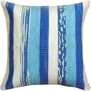 Blue Hand-crafted Spun by Welspun 16-inch Throw Pillow