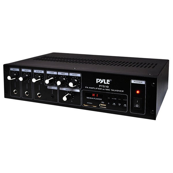 240W PA PWR AMP W/ 70V OUTPUT PERPAND MIC TALKOVER USB/SD CARD