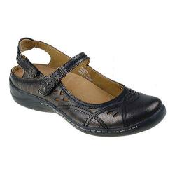 Women's Earth Pagoda Mary Jane Champagne Soft Calf Leather/Metallic Leather