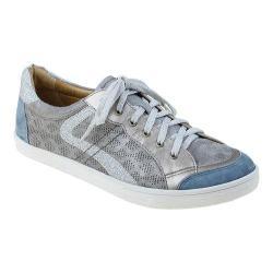 Women's Earth Quince Sneaker Light Grey Multi Metallic Suede