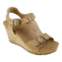 Women's Earth Scorpio Slingback Wedge Sandal Sand Soft Calf Leather
