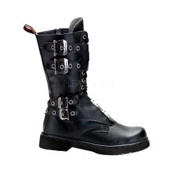 Men's Demonia Defiant 302 Boot Black Vegan Leather