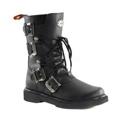Men's Demonia Defiant 306 Boot Black Vegan Leather