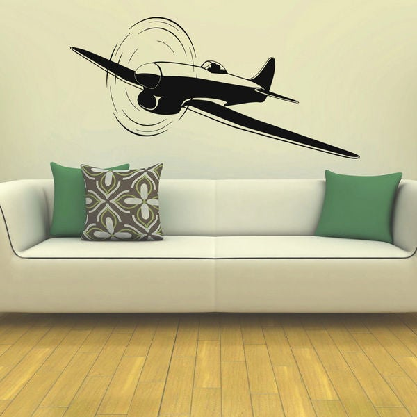 Propeller Plane Old Plane Nursery Vinyl Wall Art Decal Sticker