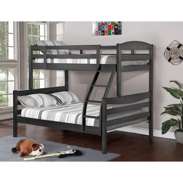 Alissa Twin/ Full Rustic Finished Bunk Bed - 17599874 - Overstock.com Shopping - Great Deals on ...