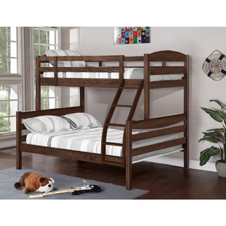 Alissa Convertible Twin Over Full Bunk Bed in Rustic Finishes