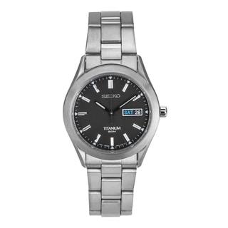 Seiko SGG707 Men's Titanium 50M Silver Bracelet Watch