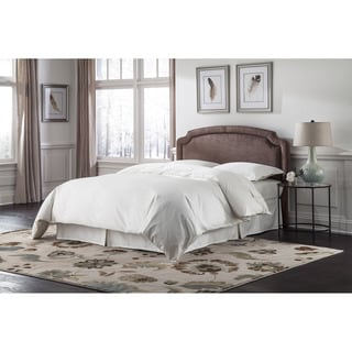 Fashion Bed Group Lugano Upholstered Adjustable Headboard with Sculpted Corners and Nailhead Trim
