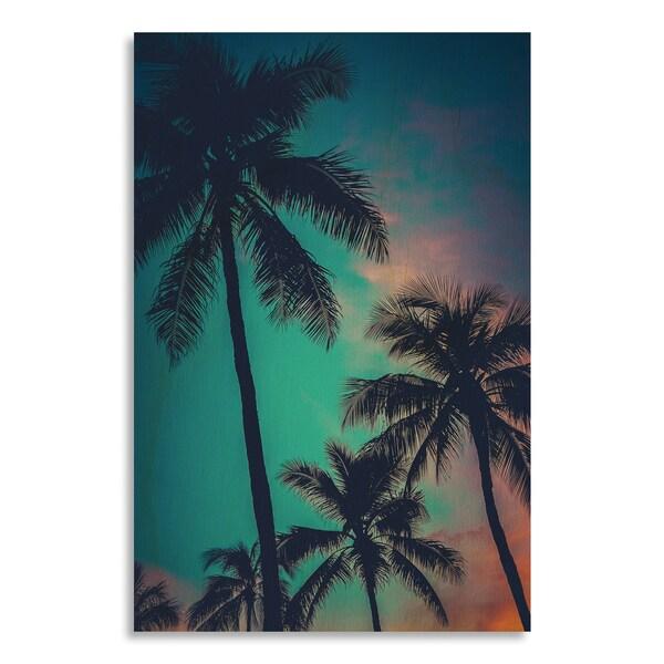 'Retro Sunset Hawaii Palm Trees'