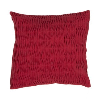 Handmade Solid Pattern Cotton 20-inch Throw Pillow (Set of 2)