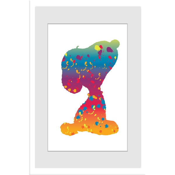 "Marmont Hill - ""Snoopy Rainbow"" Peanuts Framed Art Print"