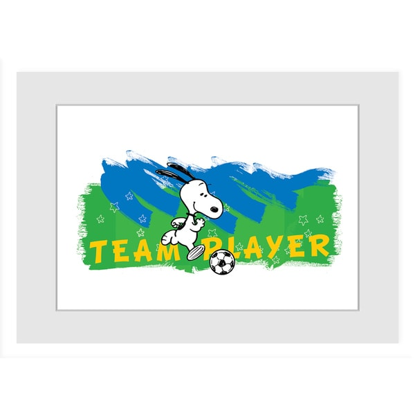 "Marmont Hill - ""Team Player"" Peanuts Framed Art Print"