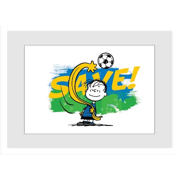 "Marmont Hill - ""Save 2"" Peanuts Framed Art Print"