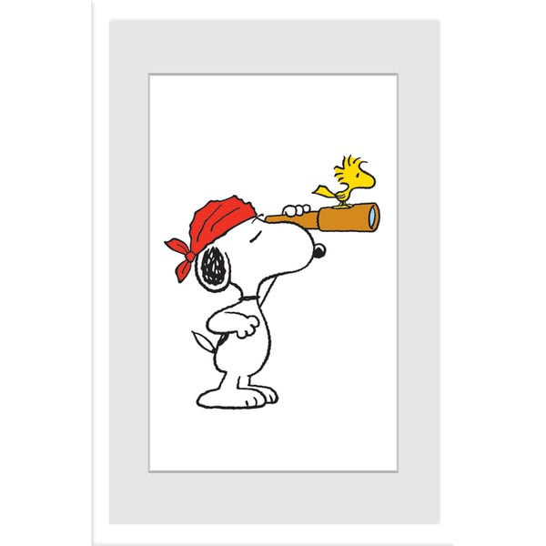 "Marmont Hill - ""Snoopy Pirate"" Peanuts Framed Art Print"