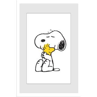 "Marmont Hill - ""Snoopy Woodstock Hug"" Peanuts Framed Art Print"