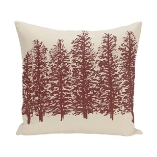 16 x 16-inch Through the Woods Floral Print Pillow