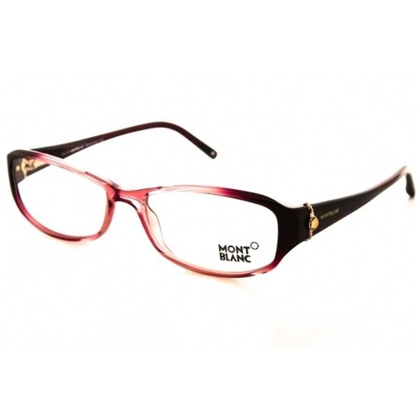 Mont Blanc Mb0393 Shiny Pink Eyeglasses